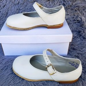 Self-Starters White Leather Girls Dress Shoes
